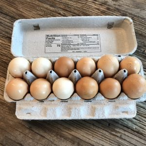 carton of Fresh Local Free Range Eggs - 1 dozen eggs every other week